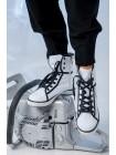 Кеды JO JO высокие на шнуровке