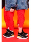 Кеды завышенные на липучках с вставками и логотипом JOJO