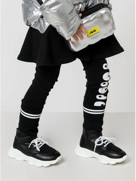Кроссовки кожаные со стрейчевым текстилем JO JO