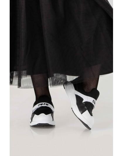 Кроссовки на липучке с высокой подошвой JO JO