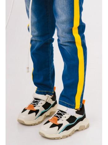 Кроссовки с замшевыми вставками Manan