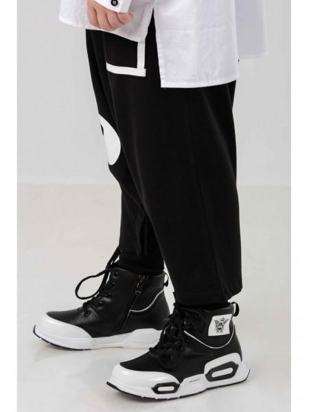 Кроссовки высокие с брэндовым гербом JO JO