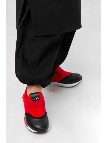Слипоны c черным носком, на резинках. JO JO