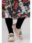Кроссовки кожаные c фламинго FASHION DOG