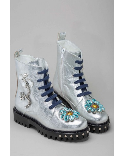 Ботинки с кристаллами PIANURA STUDIO