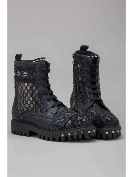 Ботинки с вышивкой PIANURA STUDIO
