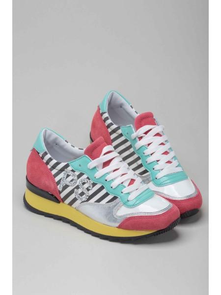 Кроссовки цветные с блестками PIANURA STUDIO