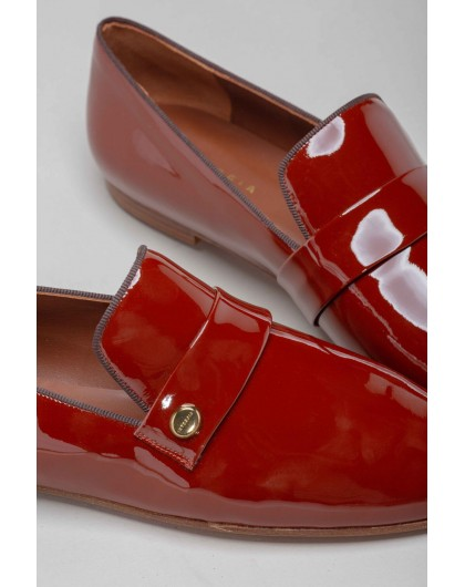 Туфли лоферы из натуральной кожи INTROPIA