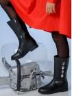 Сапоги на каблуке с молнией  JoJo