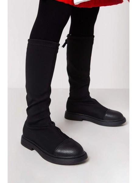 Сапоги стрейчевые с кожаным носком JO JO