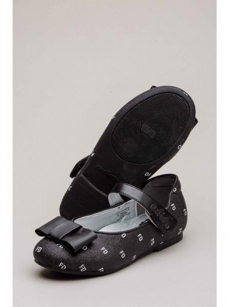 Балетки кожаные с принтом FD FASHION DOG