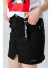 Джинсовая юбка мини с бахромой JO JO