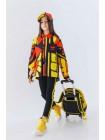 Рюкзак желтый с пластиковым передом и светоотражателями JoJo